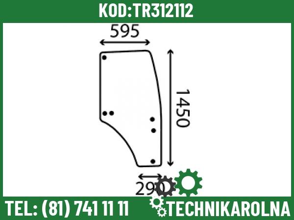 SU27313 Szyba drzwi prawa profilowana barwiona